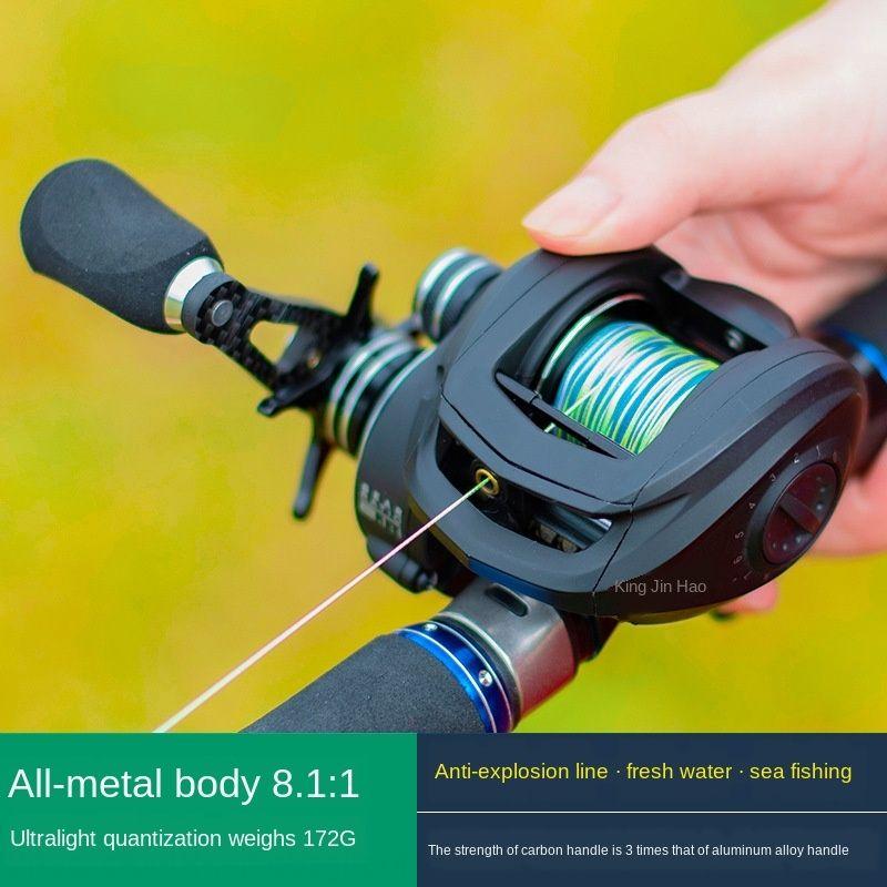 t8alU Jin biangwang enveloppe métallique goutte d'eau 18 de l'axe des bobines de coulée d'amorce de bord d'or fil métallique noirci route Cup pêche à la roue de pêche asiatique