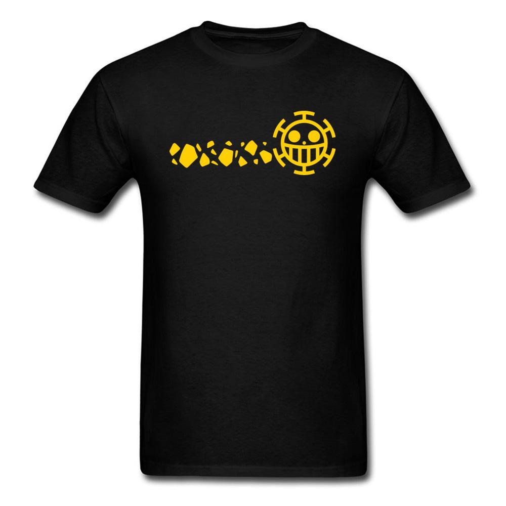 Legge Logo T shirt One Piece Tshirt Rebel Nero maglietta degli uomini di Top 100% cotone Tees Operatore di frutta uomo capi su misura per la gioventù