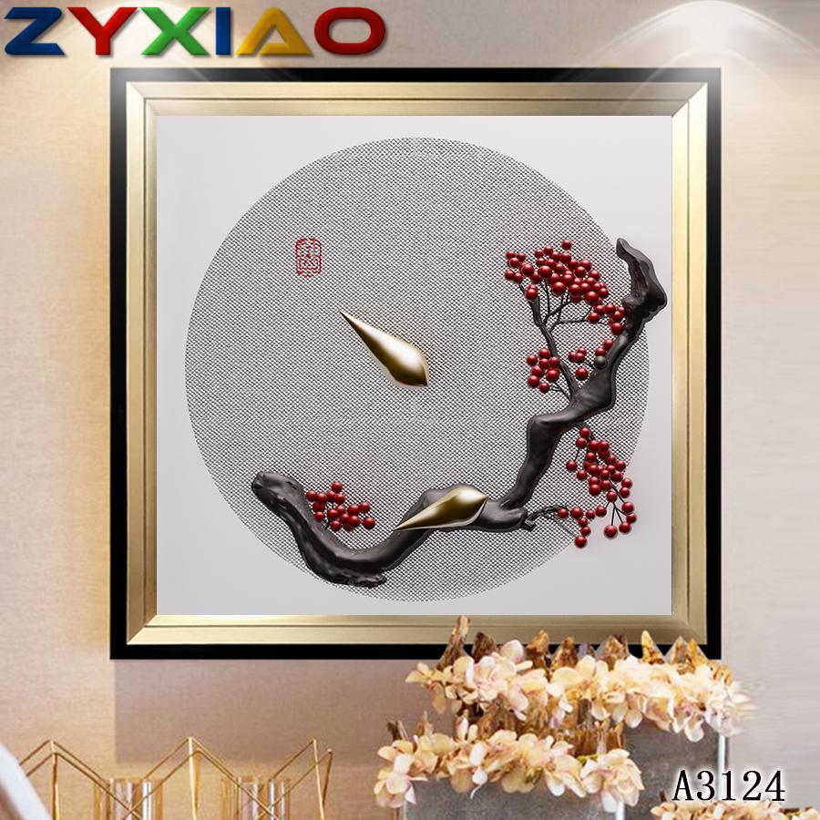 ZYXIAO Affiches et paysages Impressions cerise fleur huile moderne toile de peinture No Frame mur Photos de Salon Décoration A3124