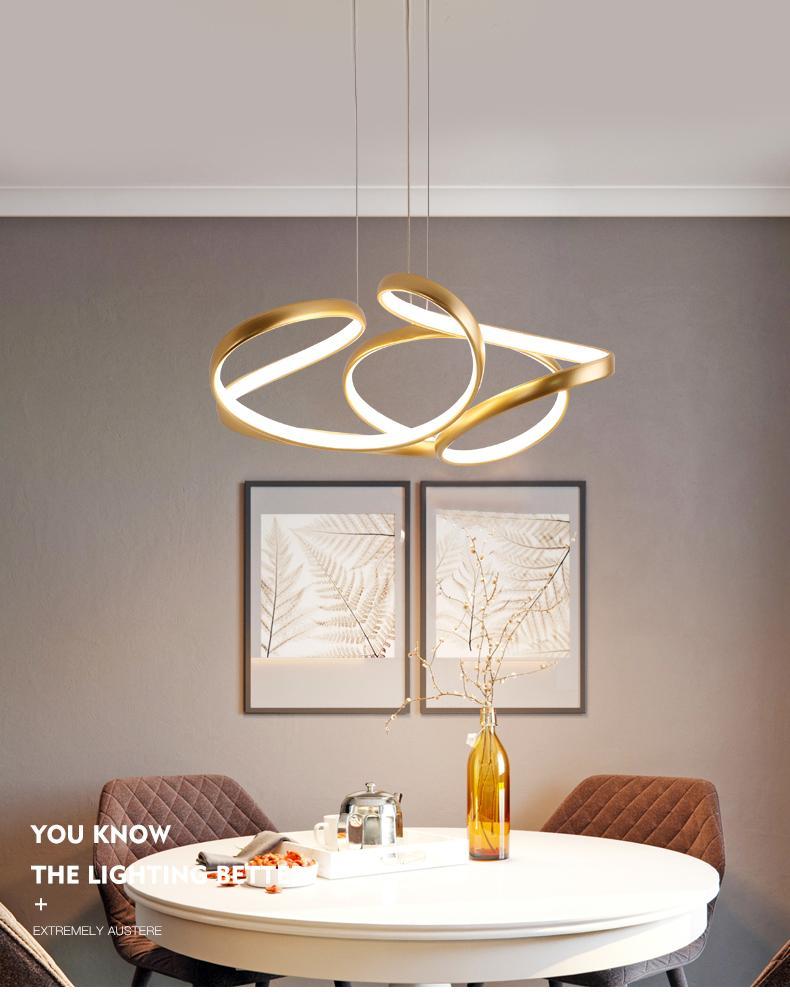 꽃 아크릴 행잉 램프 도어 조명 주방 서스펜션 식사 커피 골드 현대 LED 펜던트 라이트를 들어 거실 침실
