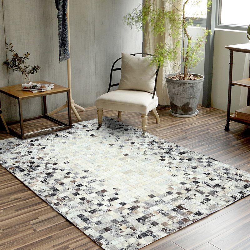 European Style einfache Art-Teppiche Wohnzimmer Schlafzimmer Teetisch Teppiche Kuhfell Handbuch Stitching Teppich Luxurious Großer Teppich