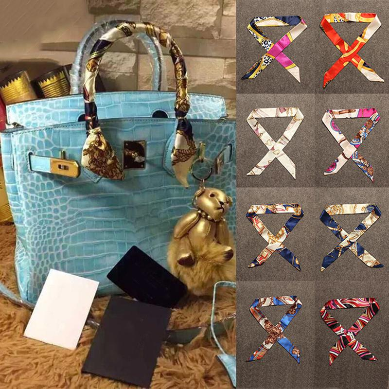 40 Colors Multifunction Scarf Hand Bag Handle Neck Scarves Women Female Small Imitation Silk Ribbon Neckerchief Waistband Scarves & Wraps