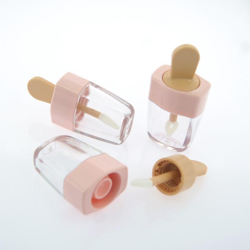 5 ml Nuevo diseño Lip Glaze botella vacía shell helado encantador labio vacío tubo de brillo labial llenado cosméticos punto de botellas vacías DHL libre