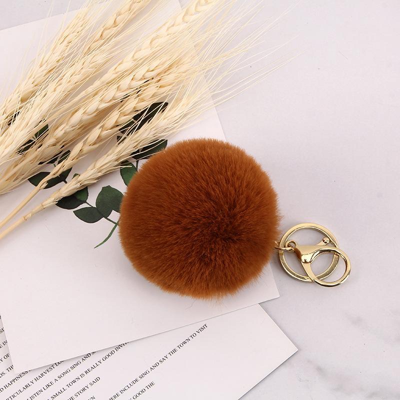 Llavero del diseñador 8 cm Anti-peluqueros de la pelota de conejo Rex bola de pelo de la bola de pelo colgante colgante Accesorios para teléfonos móviles alta calidad del bolso