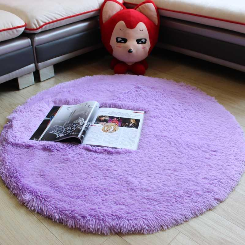 2020 Time-limited Real Soft Round Large Area Carpets For Rug Kids Computer Chair Mat Carpet For Child Bedroom Game Crawl Rugs