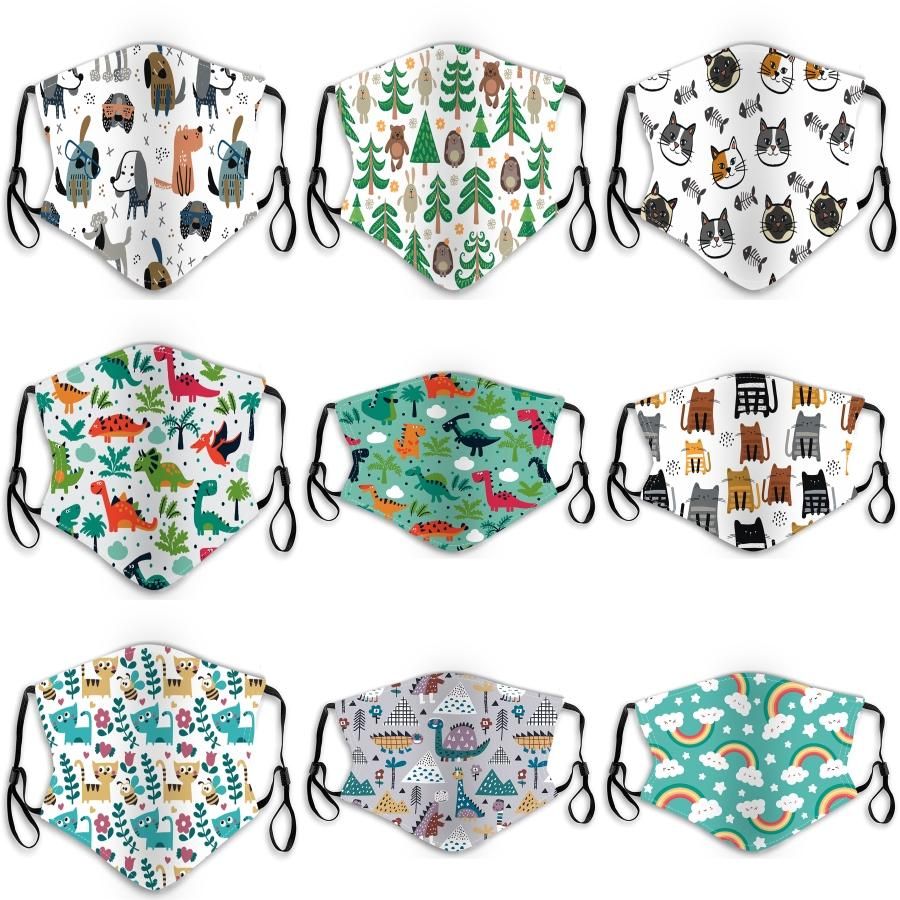 En stock! Coton Mode Visage PM2.5 Masques avec le designer de respiration lavable en tissu réutilisables Masques Protection anti-poussière de protection Masques # 650