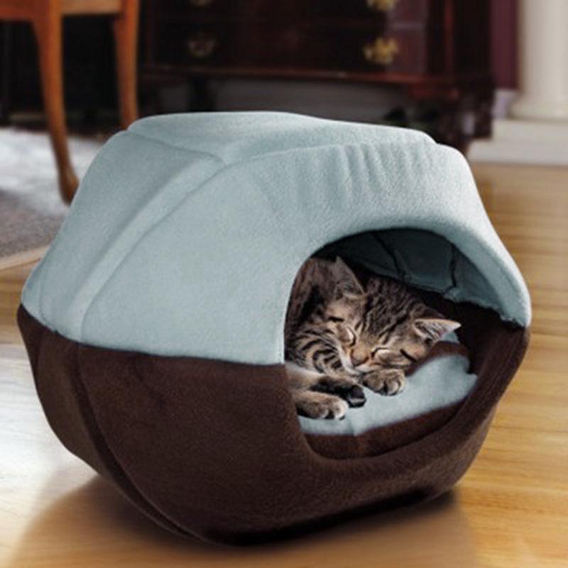 Mat Pad Nest Kennel Pet Sleeping WHPC Toptan Pet Kedi Köpek Yatak Ev İçin Kediler Katlanabilir Yumuşak Sıcak Hayvan Köpek Mağarası Y200330 Malzemeleri