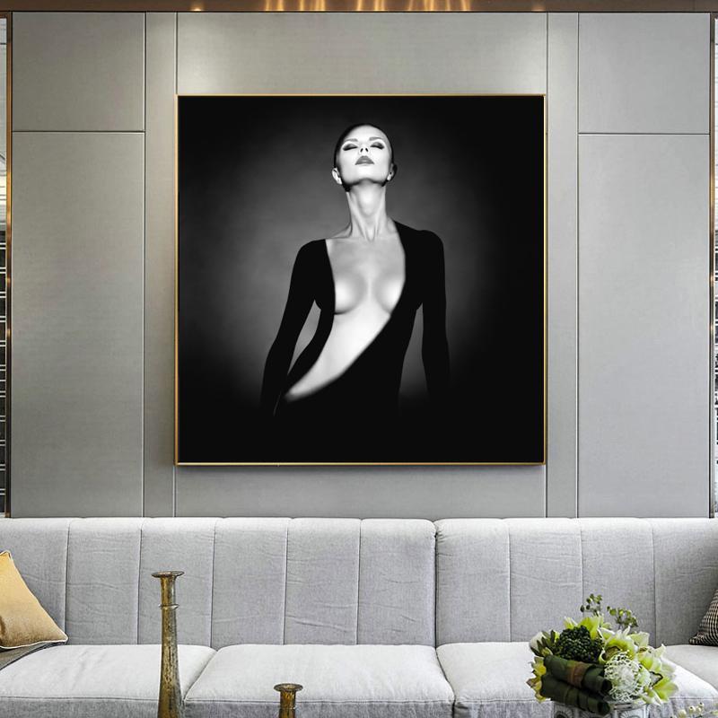 Элегантные Обнаженная модель Современные Портрет Плакаты и Печать холст картины стены искусства для гостиной Home Decor (без рамки)