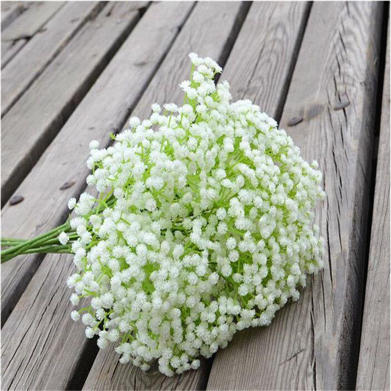 2020 Beautiful Gypsophila Baby's Breath Artificial Fake Silk Flowers Plant Home Wedding Party Decoration 100pcs DHL free