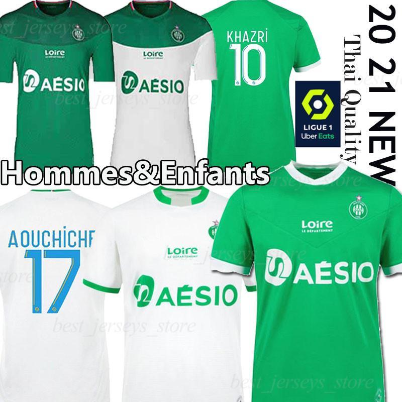 20 21 Майо AS Saints Etienne Футбол Трикотажные 2020 2021 трико ASSE Etienne ХАЗРИ Кабелле Beric Нордин HAMOUMA Футбольные майки униформы