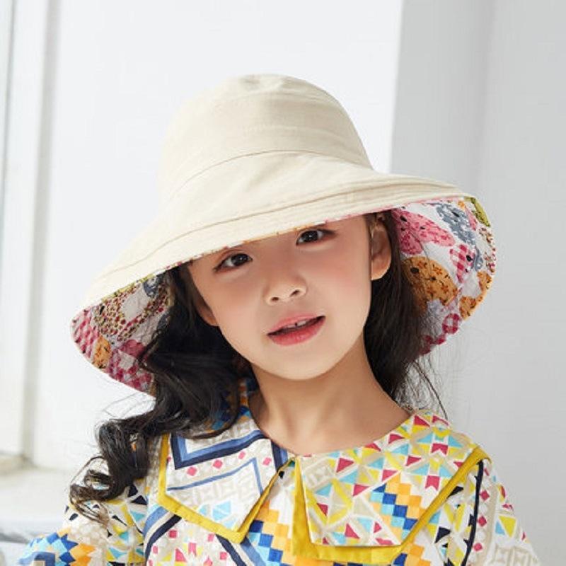 cappello da sole dei ragazzi di modo cappello stile coreano e ragazze grande gronda sole della ragazza CTGaC bambini la primavera e l'autunno pescatore secchio neonata di