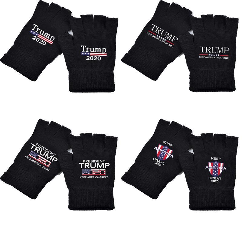 Trump перчатки 2020 Keep America Great печатные перчатки Трампа президентские выборы в США Поставки Трикотажные перчатки DHL Бесплатная доставка