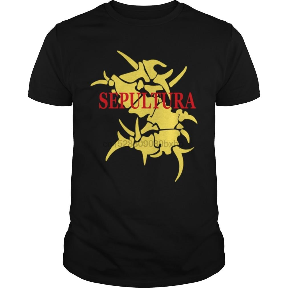 Homens T-shirt Sepultura Logo Soulfly T-shirt legal das mulheres T-shirt Tees Top