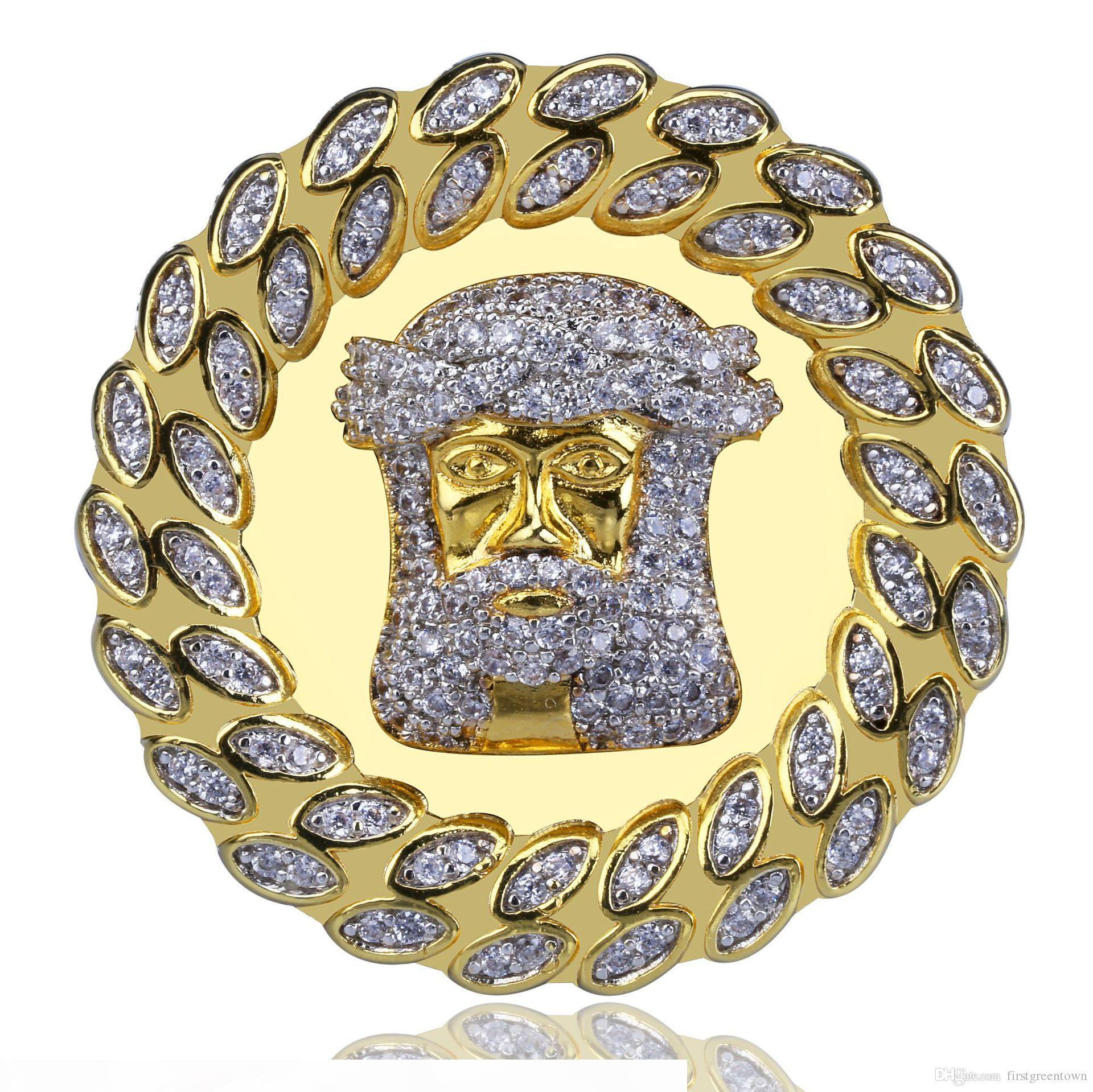 Jesus'head ist ein Mannes Ring High-End-Zircon Hip-Hop-Ring-Schmucksachen heißen Verkauf in Europa und Amerika