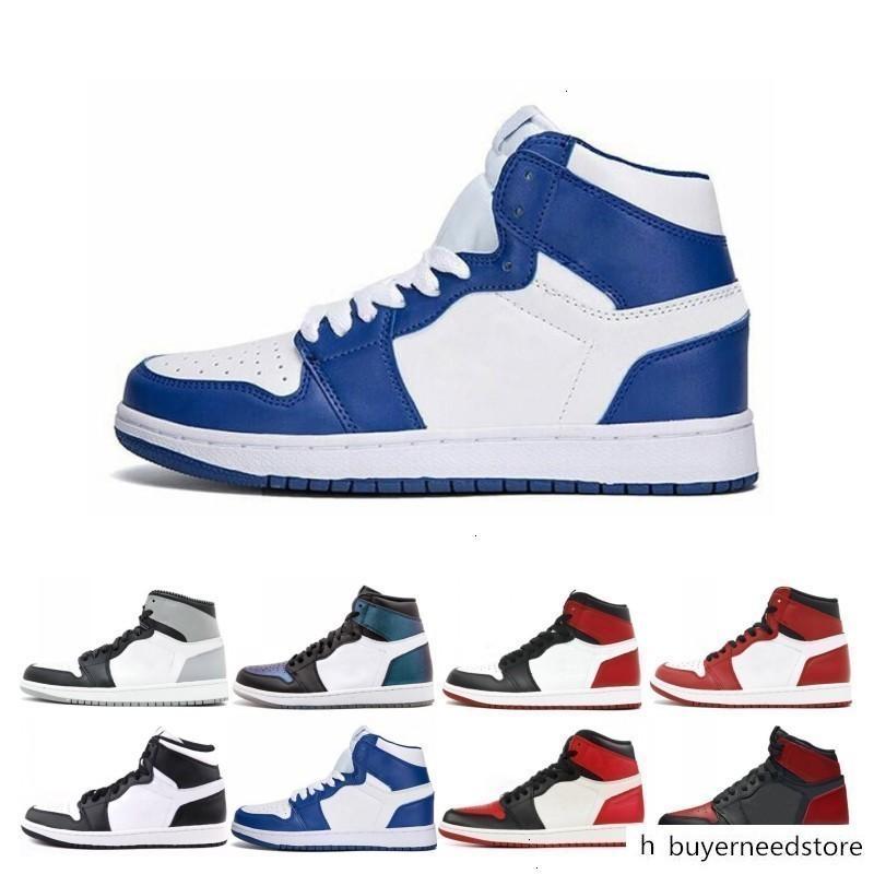 Mahkeme Mor Çam Yeşil Orta OG 1 3 erkekler kadınlar basketbol ayakkabıları 1s Yasaklı Chicago Kraliyet Mavi spor spor ayakkabıları