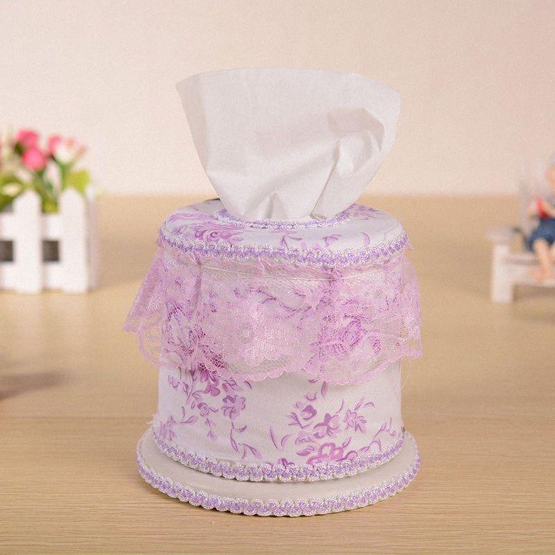 Оптово Горячий европейский стиль Элегантные ткани коробки Wedding Royal Для автомобилей бумаги Обложки Полотенца Tissue Box Обложка Бытовая Lace Салфетка Ho B9ah #