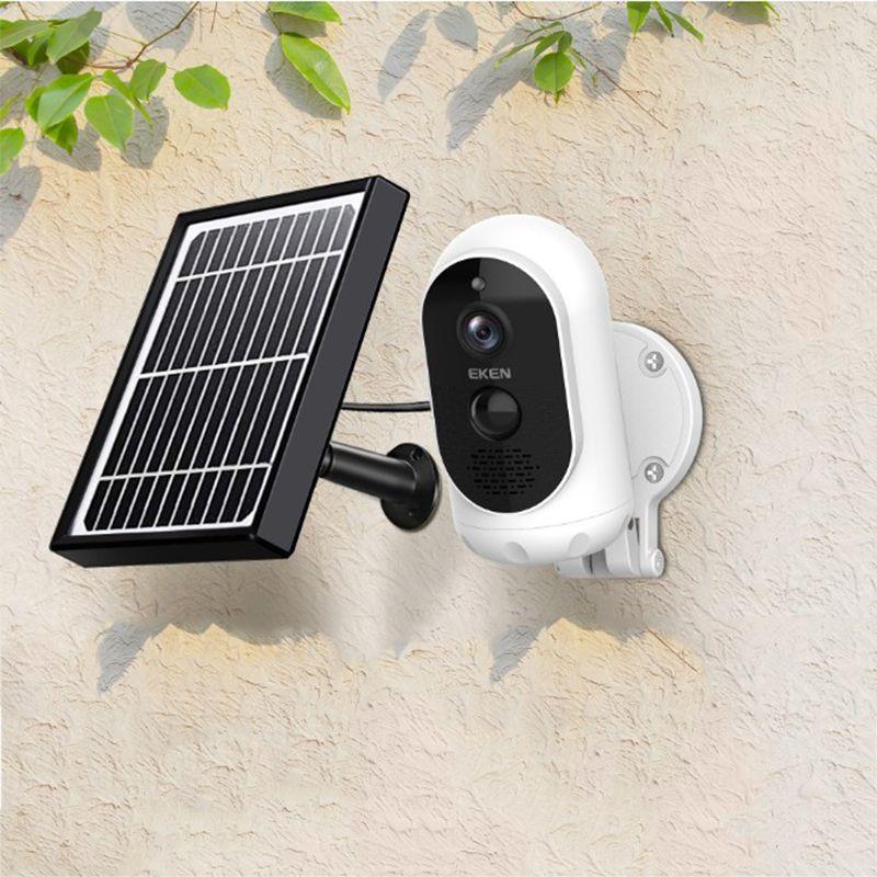태양 전지 패널 스마트 캠와 IP65 WIFI 비바람에 움직임 감지는 Eken 천체 1080P 배터리 무선 IP 카메라