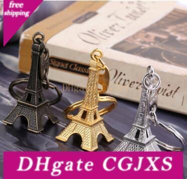 خمر 3D باريس برج ايفل المفاتيح تذكارية باريس الفرنسية سلسلة المفاتيح كيرينغ مفتاح الدائري سلسلة