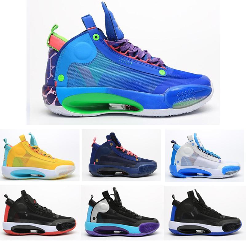 Di alta qualità migliore mens scarpe infrarossi 23 pattini di pallacanestro 34s Zoom allevati Bianco Rosso Nero Eclipse Nero Bianco Sneakers Sport