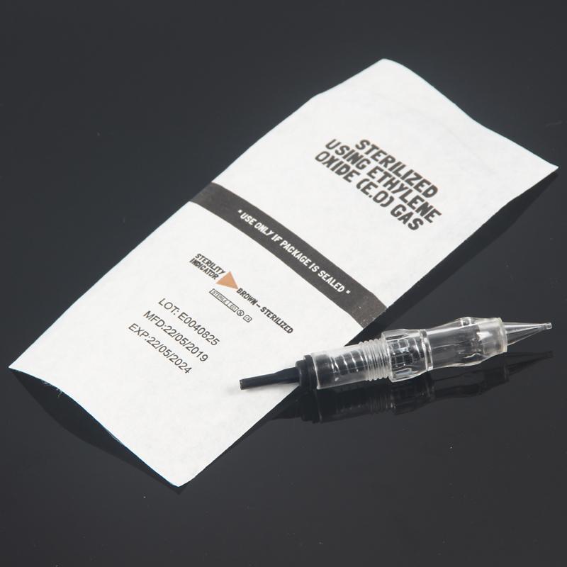 50 piezas de alta calidad 1R 3R 5R 5F 7F 0.18mm cartucho de la aguja para Micropigmentación dispositivo permanente del maquillaje de la máquina CX200805
