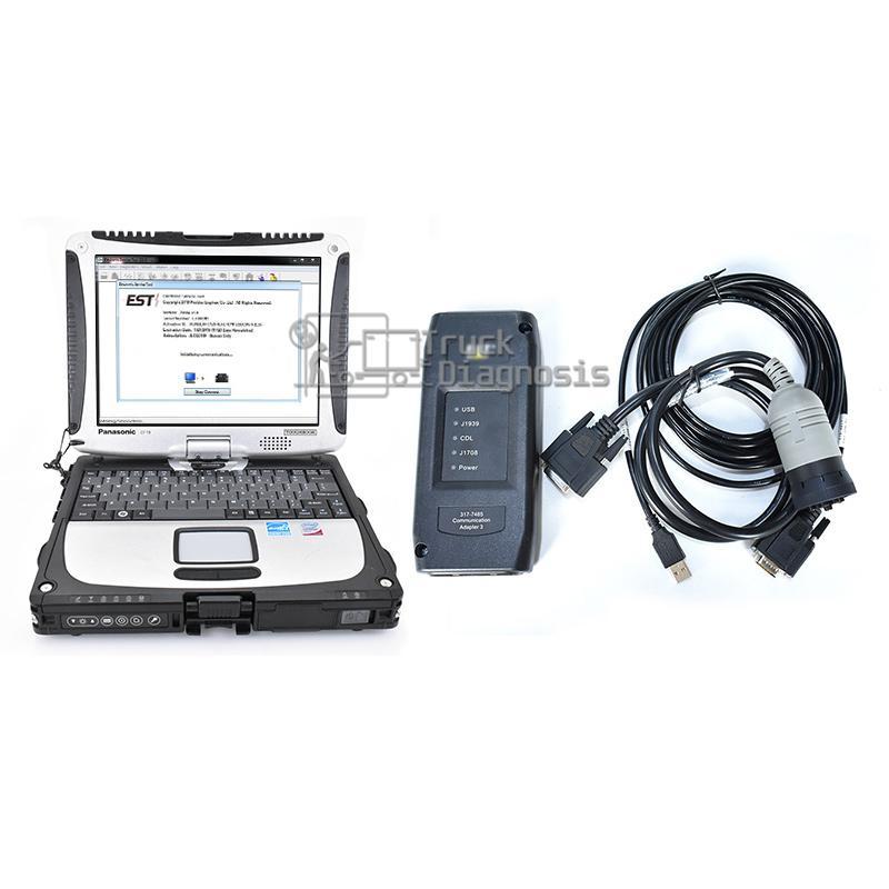 Pour adaptateur de communication III Comm 3 outil de diagnostic avec interface de diagnostic + logiciel + catsis le logiciel Flash + T420 portable