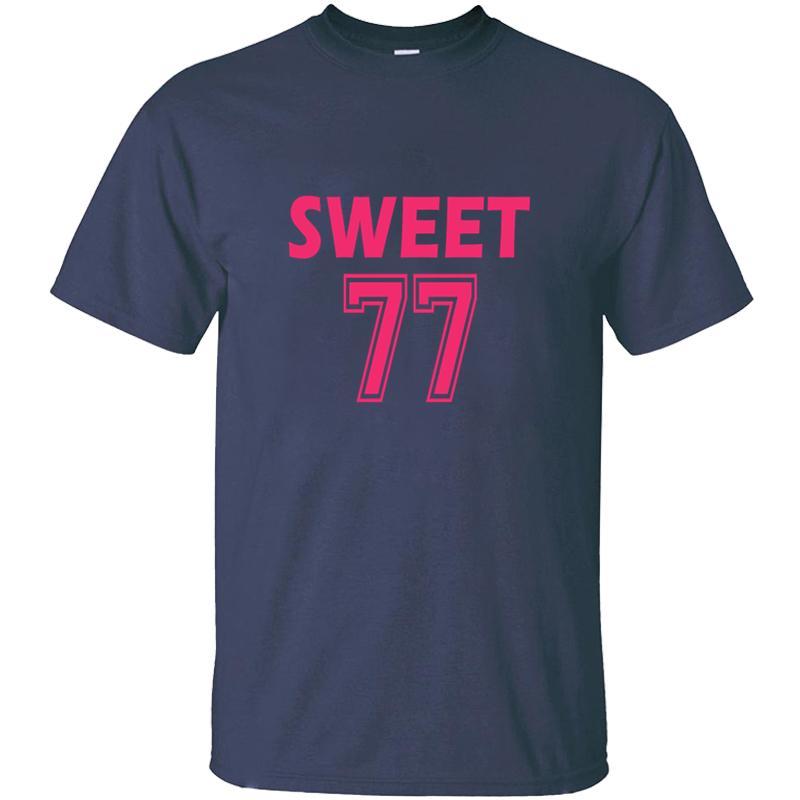 Diseño de la impresión dulce camiseta para hombres cartas Naturales de cuello redondo de color sólido Harajuku Niño Niña Camisetas de manga corta Camisetas