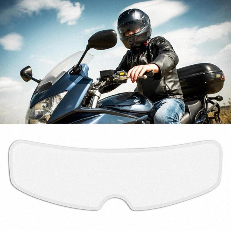 Antipioggia E Anti Fog Film per l'animale domestico Micro Coating del casco del motociclo universale trasparente Casco Patch obiettivo pellicola zxIl #