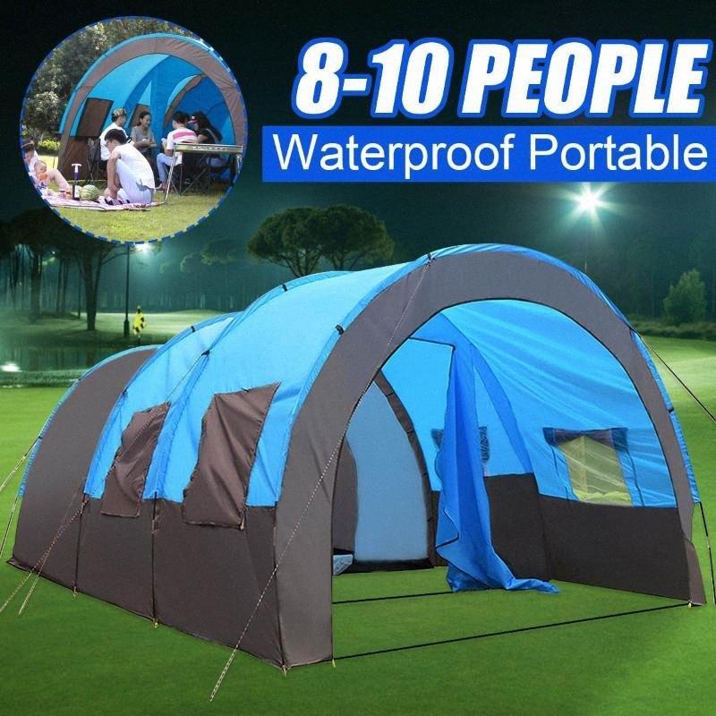 SGODDE 8 10 Pessoas Waterproof Viagem Camping Caminhadas Double Layer tenda ao ar livre 480x310x210cm For Family Big 4 Estações Quadro Tent 8 Pers Gime #