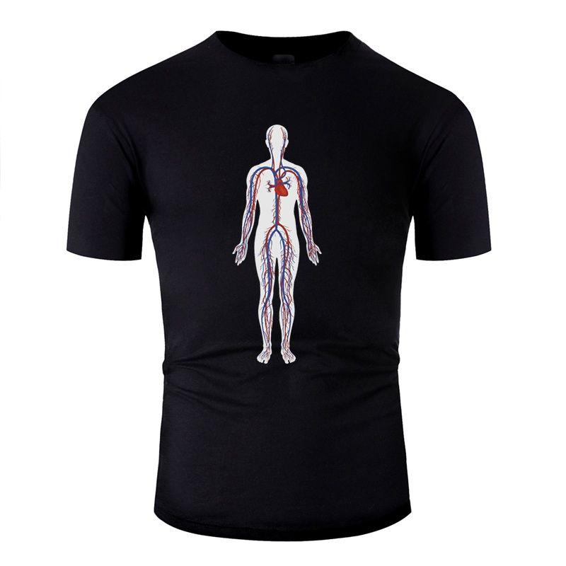Gömme Vücut Kan Dolaşımı Tişört İçin Erkek Klasik Boş Erkekler Tshirts 2020 Kısa Kollu Tee Gömlek yazdır