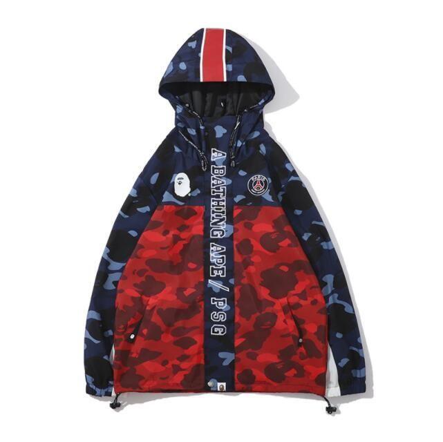 Men's Camo Polyester Hoodies Windbreaker Hoodies Fashion Cardigan Leisure Coat Popular Brand Lapel Thin Hoodies Jackets