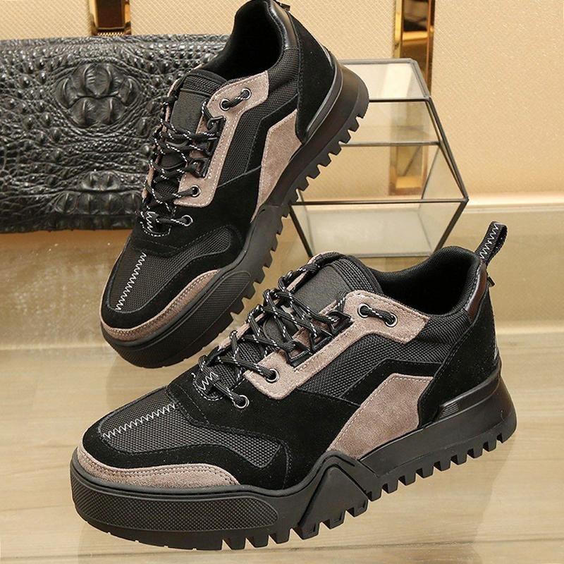 Fashion Classic Wandern Sneaker Herrenschuhe Tropfen-Schiffs-Weinlese Leichte Schuhe Luxuxspitze--Bis plus Größen-beiläufige Schuhe der Männer Zapatillas Hombre