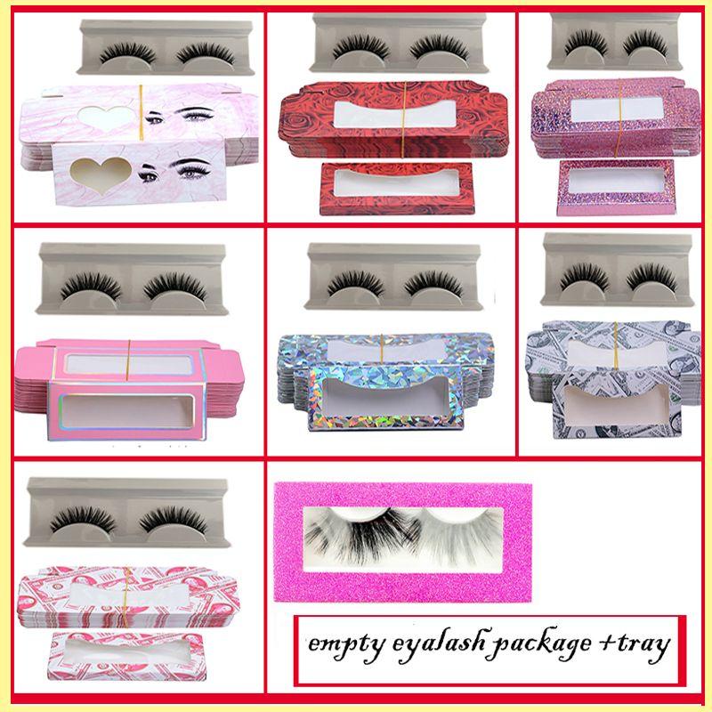 밍크 빈 속눈썹 포장 상자 + 트레이가 가짜 속눈썹 속눈썹 포장 눈 속눈썹 포장 상자 속눈썹