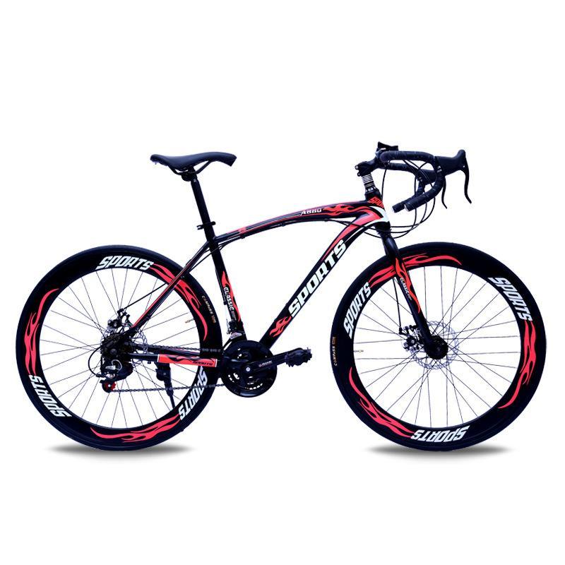 Yol Bisikleti Değişken Hız Viraj Çift Disk Frenler 700C İl Yarışı Scooter Öğrenci İhracat off-Yol Bisikleti Seyahat