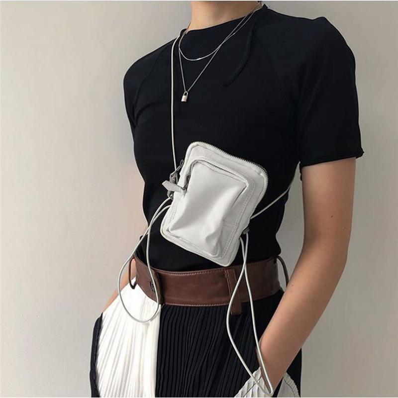Femmes Mini ceinture Sac Petit Messenger Sacs Téléphone Sacs Bandoulière Bandoulière Pochette 2020 Épaule Mince Zipper Pochette pour Femmes Mini Rvord