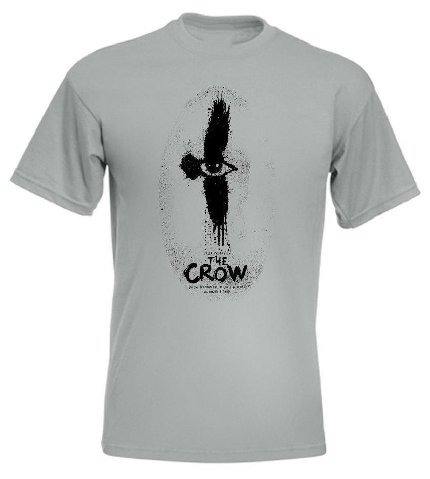 El cuervo V3 camiseta de zinc cartel de película de todos los tamaños S-5XL nuevo Mens de primavera y verano vestido de manga corta Hip Hop cómica