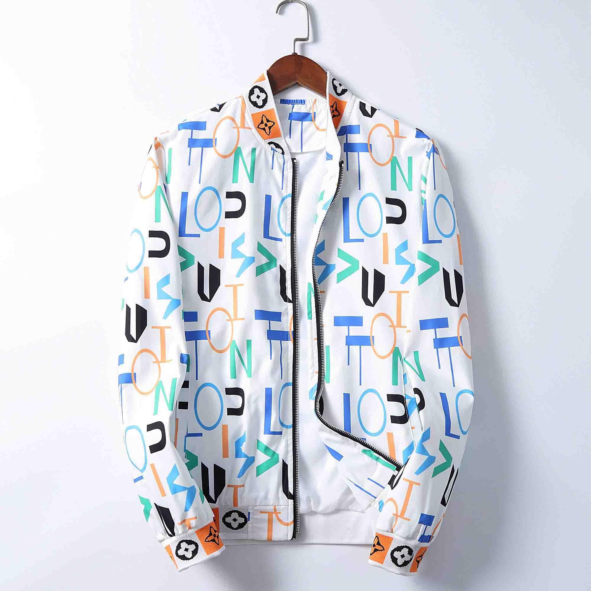 Kapşonlu İlkbahar Sonbahar Marka Fermuar WINDBREAKER Mektupları Erkekler Ve Kadınlar Lüks Hoodie Coat Ceket Su geçirmez Qt3 için Print Mens Tasarımcısı Ceket