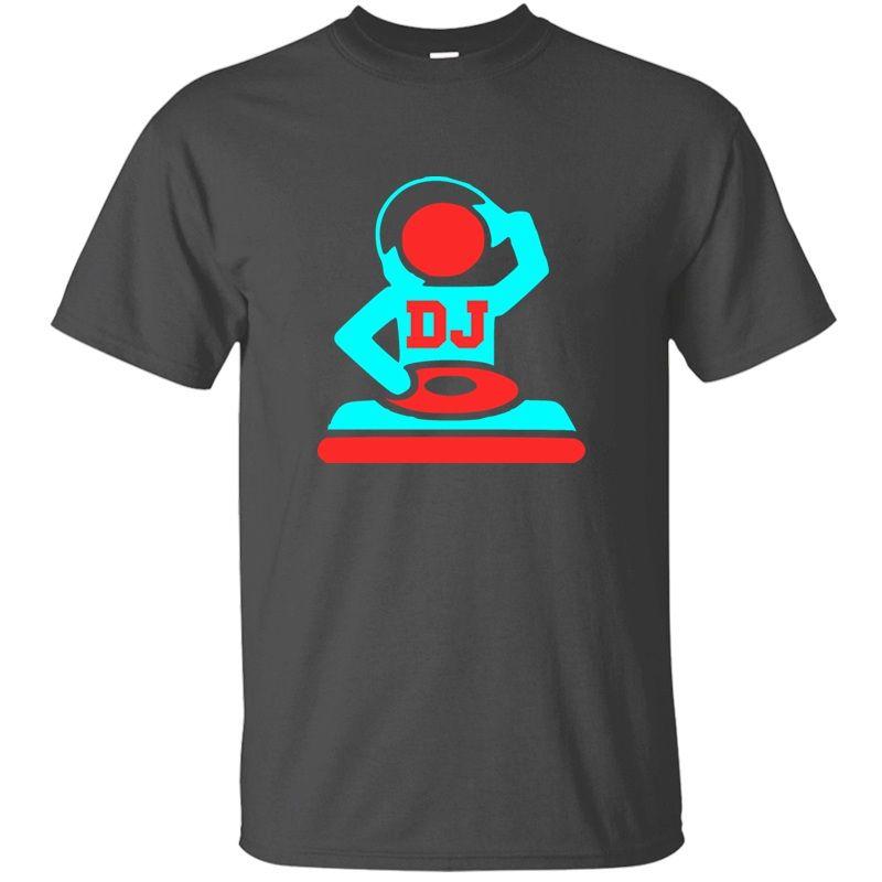 Erkekler Klasik Mektupları Ordu Yeşil Temel Katı Karikatür Tişörtleri Büyük Boyutu 3XL 4XL 5XL CAMISAS Gömlek için Dj Tişörtlü