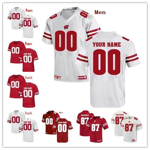 Chris James Wisconsin Badgers Football Jersey Red
