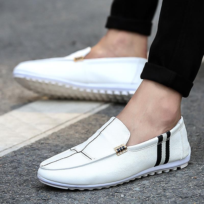 Yeni Erkekler Günlük Ayakkabılar loafer'lar Erkek Deri Ayakkabı Kalite Erkek Klasik Bezelye Erkekler Düşük En Flats Makosenler