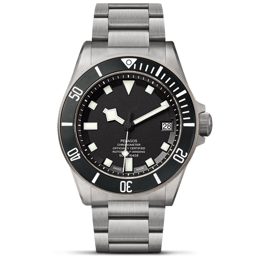 mens Top Quality relógios painel de cerâmica 42MM completa de aço inoxidável Auto Data Movimento automático super-luminosa à prova de água