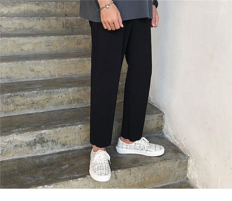 Vita Mens pantaloni di Capris Moda allentati Maschi Abbigliamento Patchwork progettista del mens pantaloni Casuual solido di colore elastico