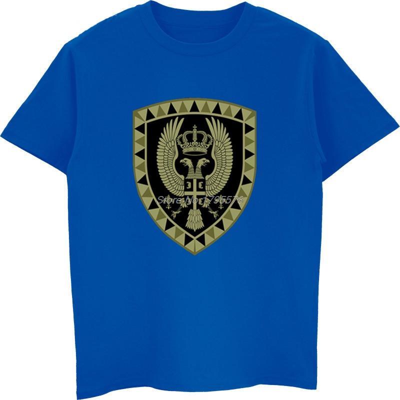 Vendita Forze caldi 100% Cotone Moda serbi Armate, L'Unità Black T-Shirt Design Special Brigade fresco Tee Shirt Harajuku