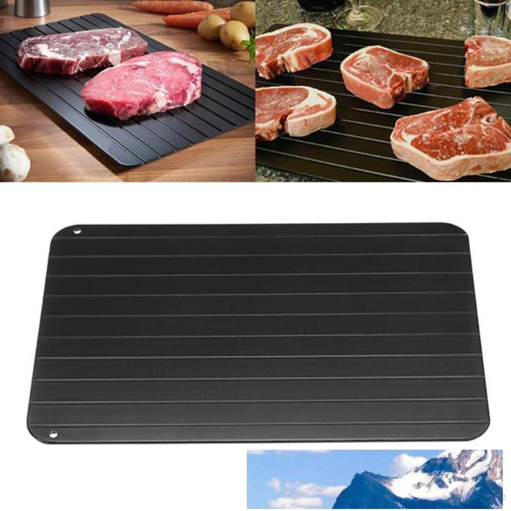 Fast Defrosting Tray Defrost Meat Frozen Food Meat Fish Quickly Without Electricity Microwave Defrost Tray Thaw In Minutes Chopping Block