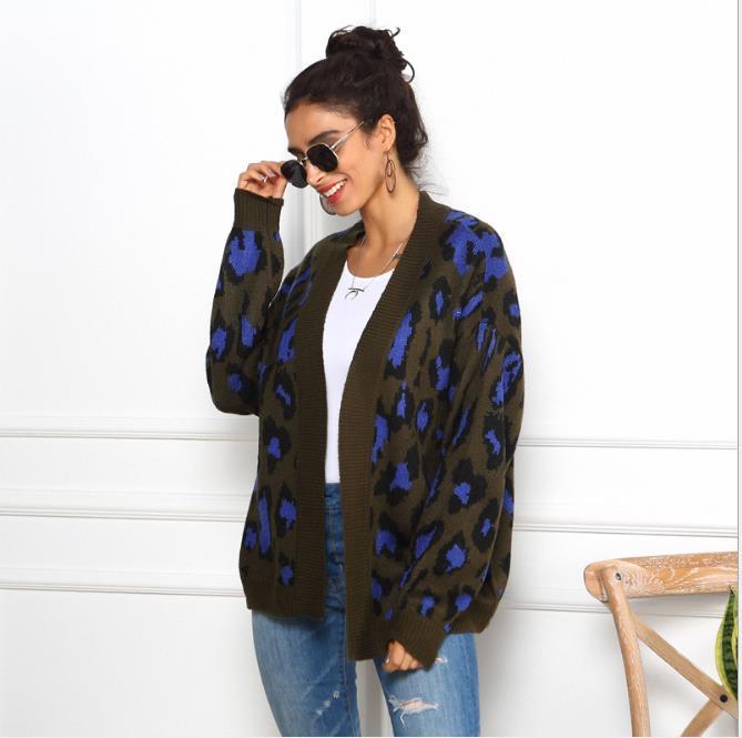 Vêtements Pull pour femmes Pull lâche Femme Longue automne Hiver Fashion Pulls à manches pour femmes Cardigan Designer Leopard Femme DTomp