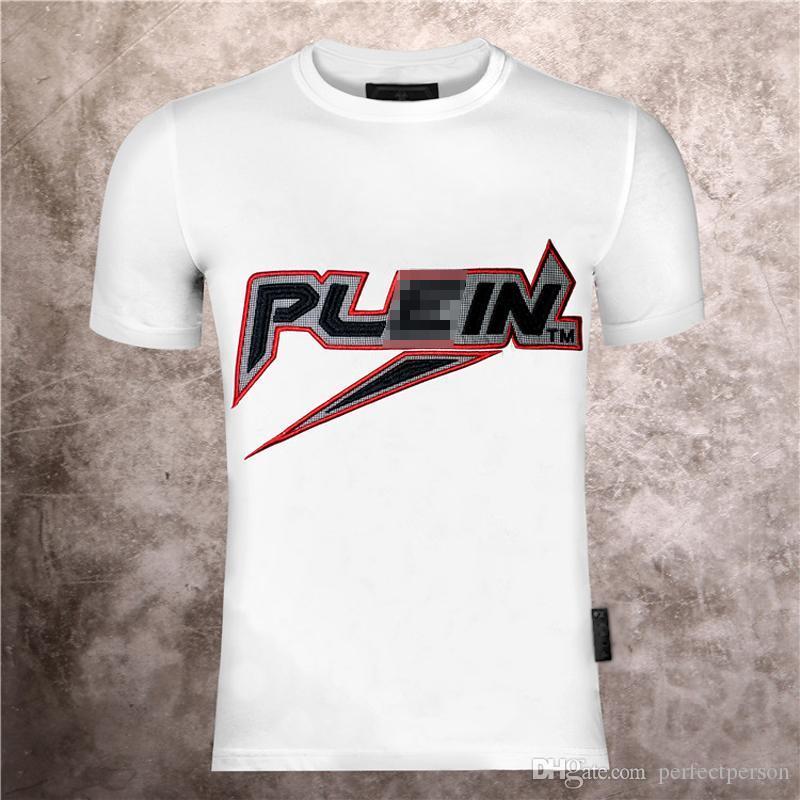 2020ss printemps et en été nouveau T-shirt panneau col rond manches courtes en coton impression de haute qualité m-XXXL Couleur: blanc noir T-shirts T74