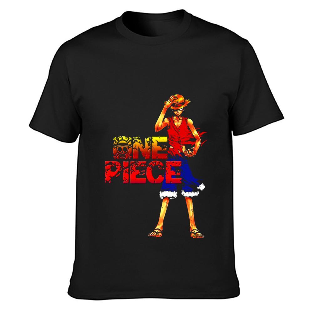 brûler luffy t-shirt vintage drôle décontracté O cou coton personnalisé original chemise Intéressant