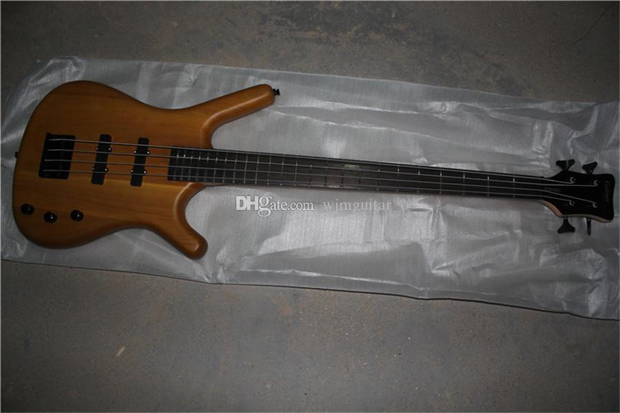 Ücretsiz kargo w 4 dizeleri elektrik bas gitar, alder ahşap koyu şarap kırmızı vücut, akçaağaç boyun, gülağacı klavye, 24 fret, siyah headstock
