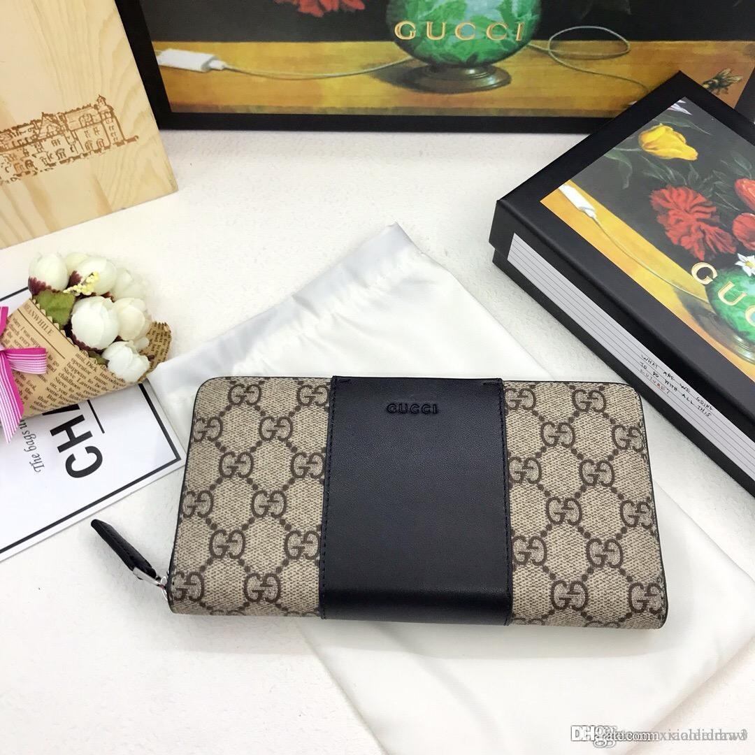 Fashionable leisure best quality wallet, top quality 1:1, made of real leather, with original box, factory primary source 19-11-4.5cm 443640
