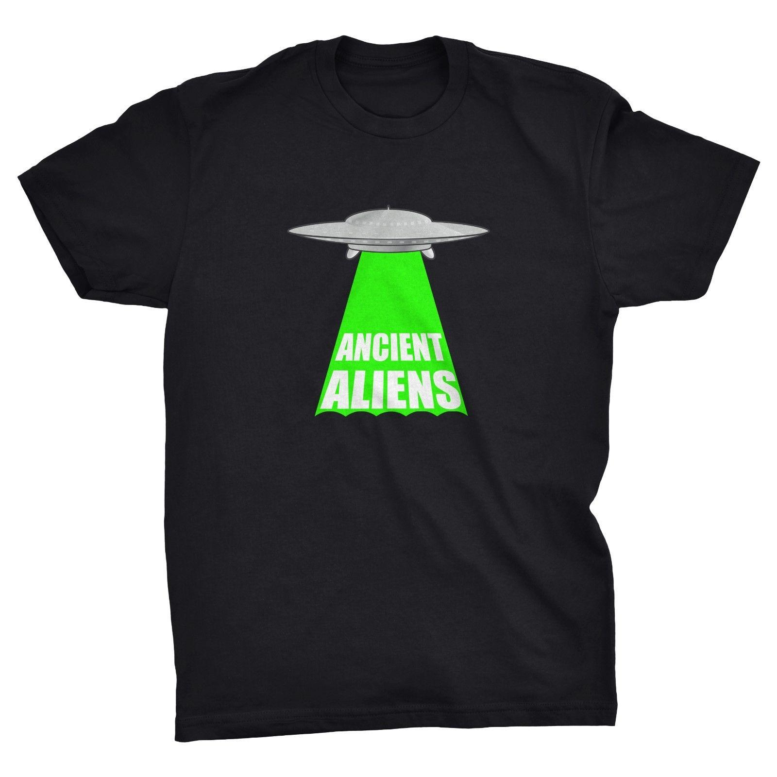 T-Shirt Ancient Aliens, Ufo, Tsoukalos, História, Flying Saucer, Meme, Navio legal retro homens camisa do orgulho t unisex casuais