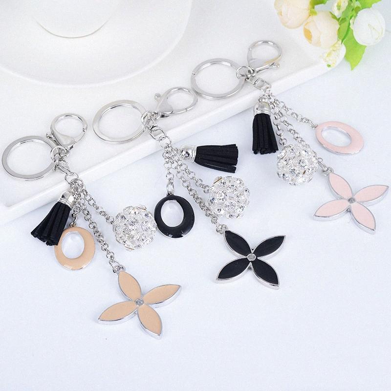 Europeu de moda Hot jóias americanas e Bag Pingente Tassel Folha Keychain Lady Mochila Decoração do presente Car Pendant KRvZ #